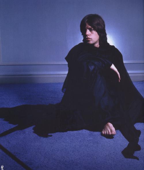 Mick Jagger in Paris, 1971.