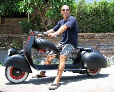 We really like this rat rod!  #vespa #vespahartford #scooter #scootercentrale #fun #summer #smile