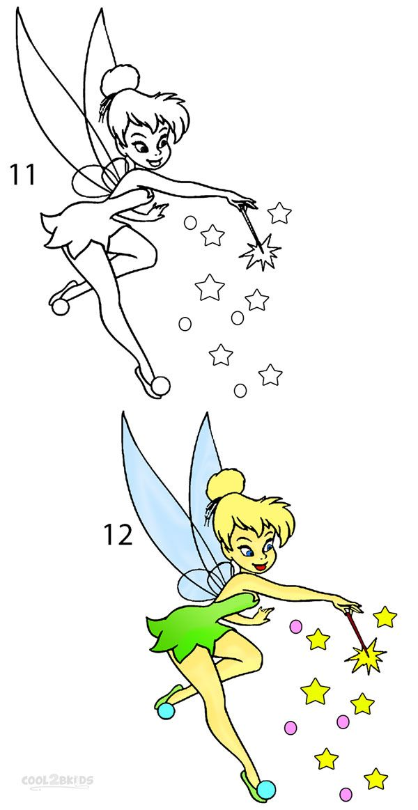 how to draw tinkerbell step 6