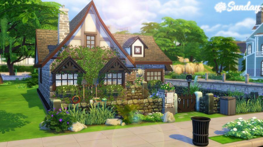 Sims 4 petite maison champetre   Maison sims, Sims 4 ...