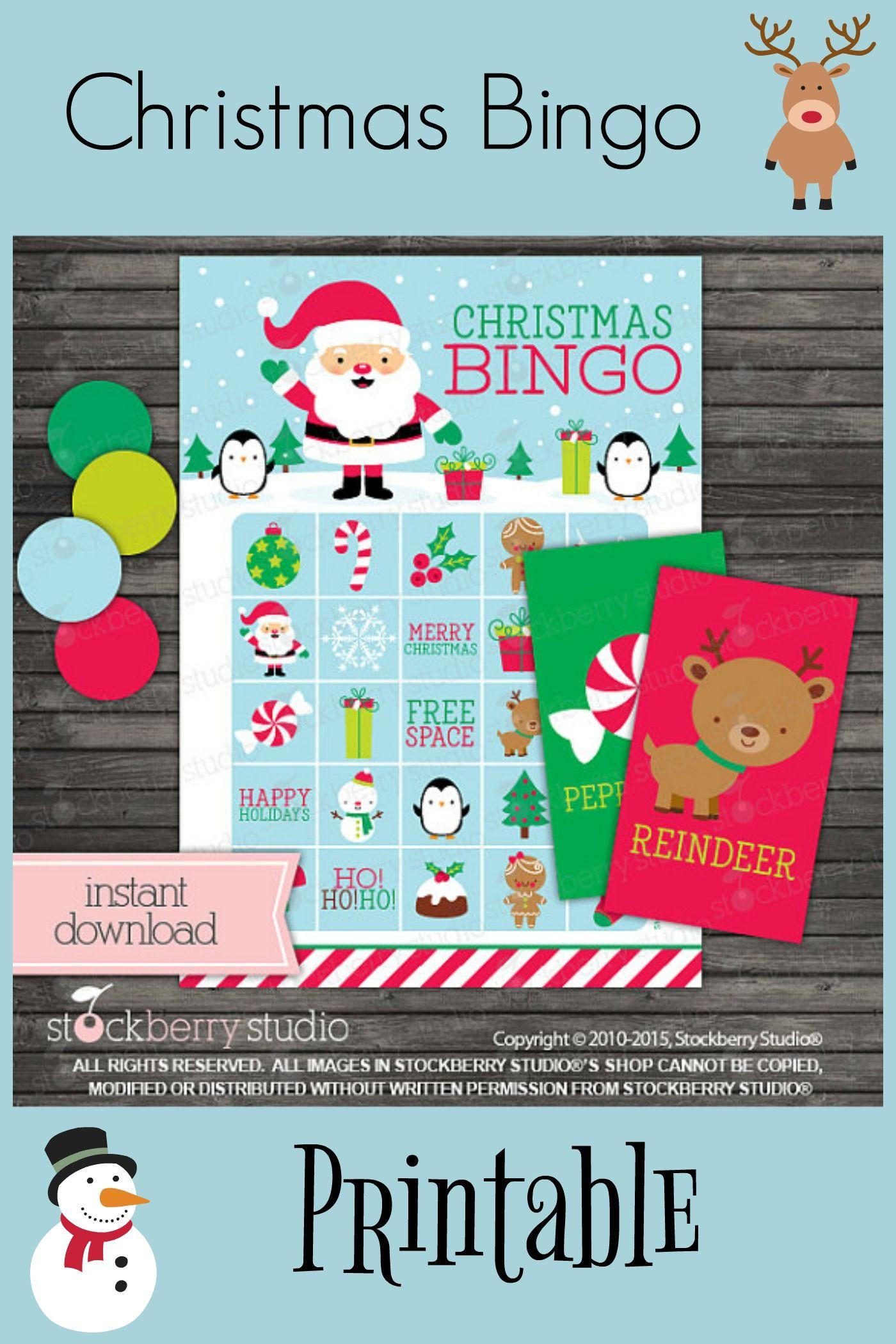 Christmas Bingo Cards Printable - Christmas Games - Instant Download ...