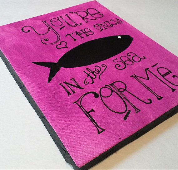 Fish In The Sea Painting by 2Messy on Etsy, $12.00