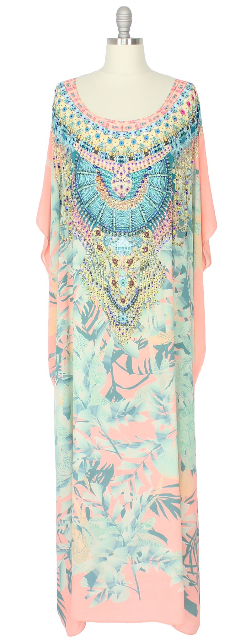 Camilla Round Neck Long Caftan