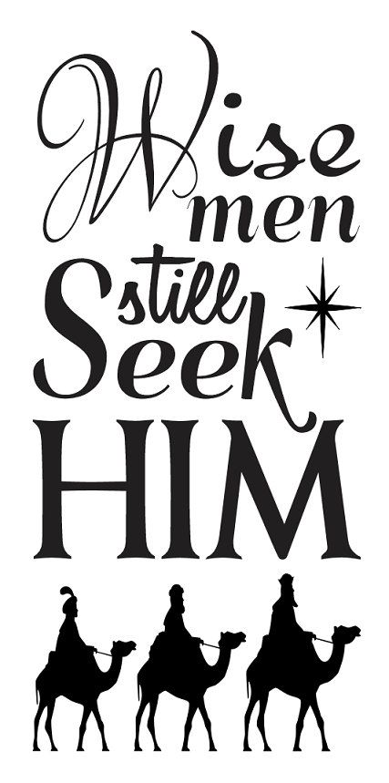 "Primitive Christmas/Holiday STENCIL**Wise men still seek Him**12""x24"" for Painting Signs, Airbrush, Crafts, Wall Art and Decor"