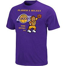 Kobe 8 Bit Player T Shirt Old School Graphics Nba Fashion Lakers T Shirt Kobe Shirts