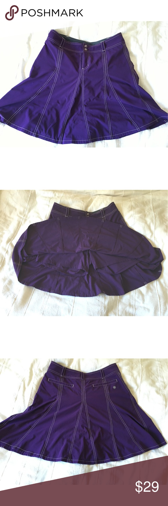 Athleta Whatever Skort, purple, size 6 EUC Athleta now discontinued Whatever skort in purple, size 6. Cute lightweight skirt with shorts underneath, perfect for travel, play, or just hanging around. Athleta Skirts A-Line or Full