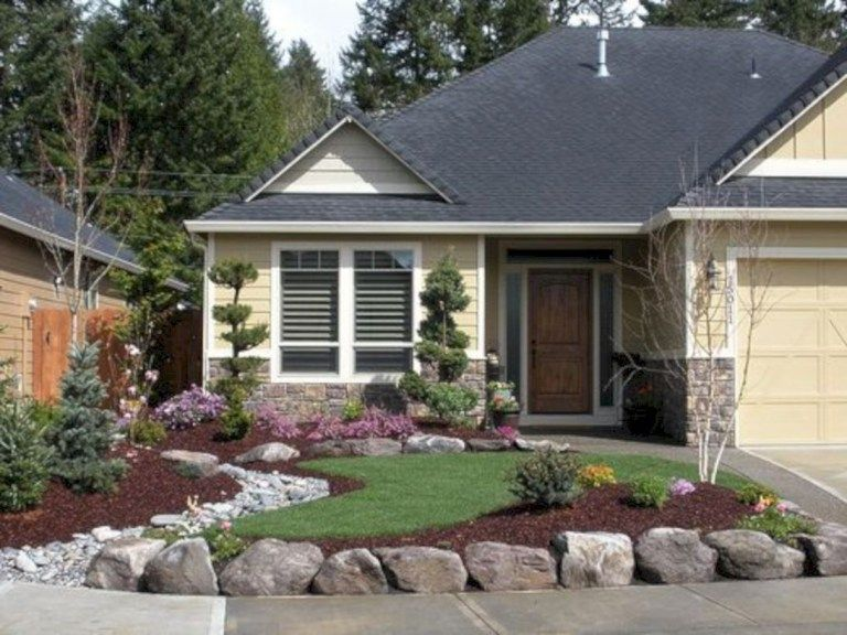 Simple But Elegant Front Yard Decorating Ideas 01