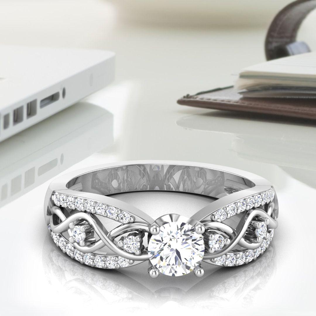 Brianca Solitaire Ring By ZaamorDiamonds.  #zaamordiamonds #solitairerings #solitairering #ring #rings