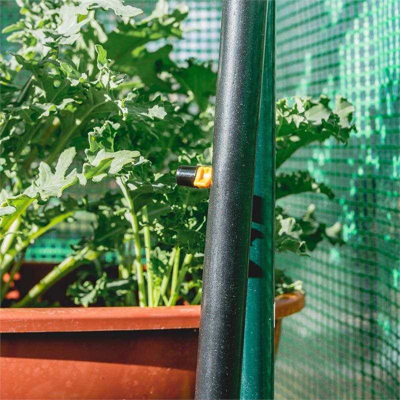 Holman walk in greenhouse with misting kit with images