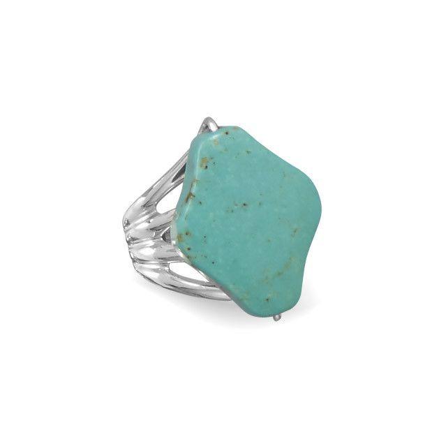 Diamond Shape Turquoise Ring