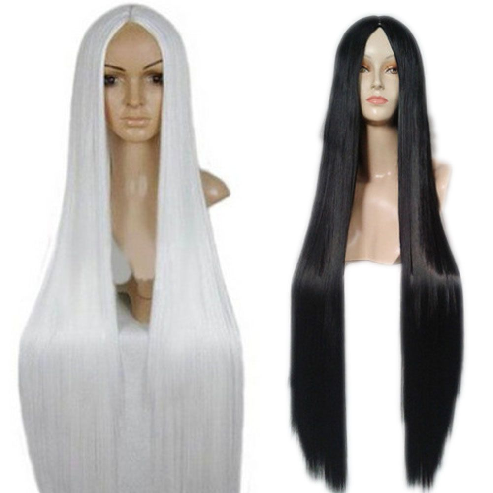 $18.44 (Buy here: http://appdeal.ru/9u99 ) 100 Cm Harajuku Anime Cosplay Wigs Young Long Straight Synthetic Hair Wig Costume Party Wigs For Women 88 for just $18.44