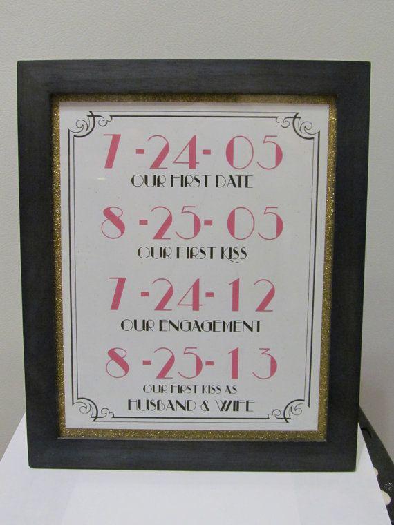 Art Deco Date Sign // Wedding Decor // by SkylineEventDesign, $11.00