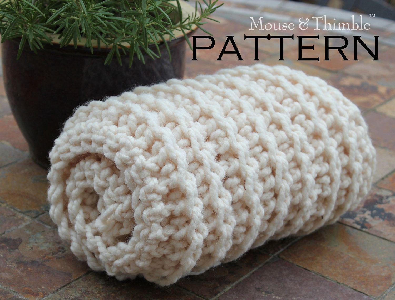 Chunky Fisherman Style Baby Blanket - Crochet PATTERN 25\