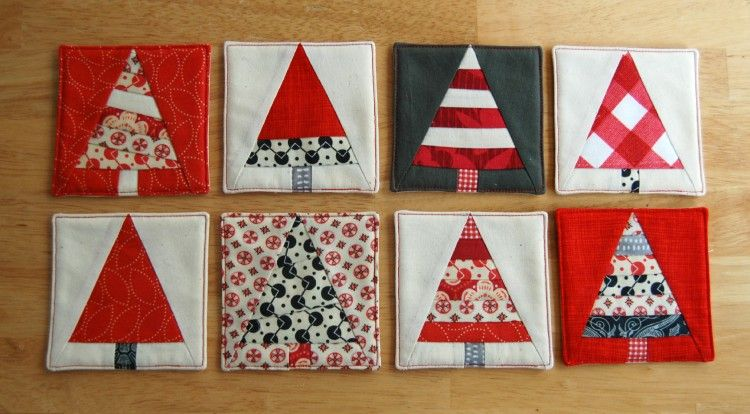 Christmas Tree Coasters: a paper pieced pattern by Olivia Jane Handcrafted - Christmas Tree Coasters: A Paper Pieced Pattern By Olivia Jane