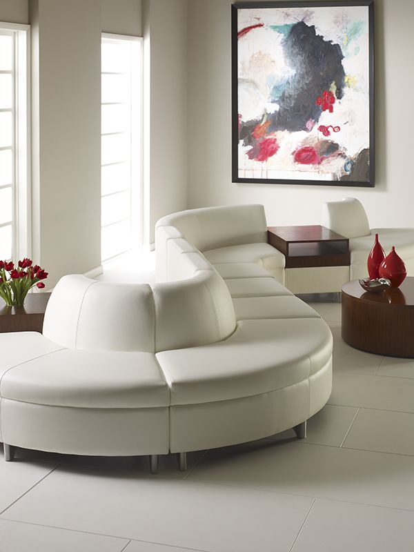 Area lounge seating collection curved back wedge units for Curved lounge