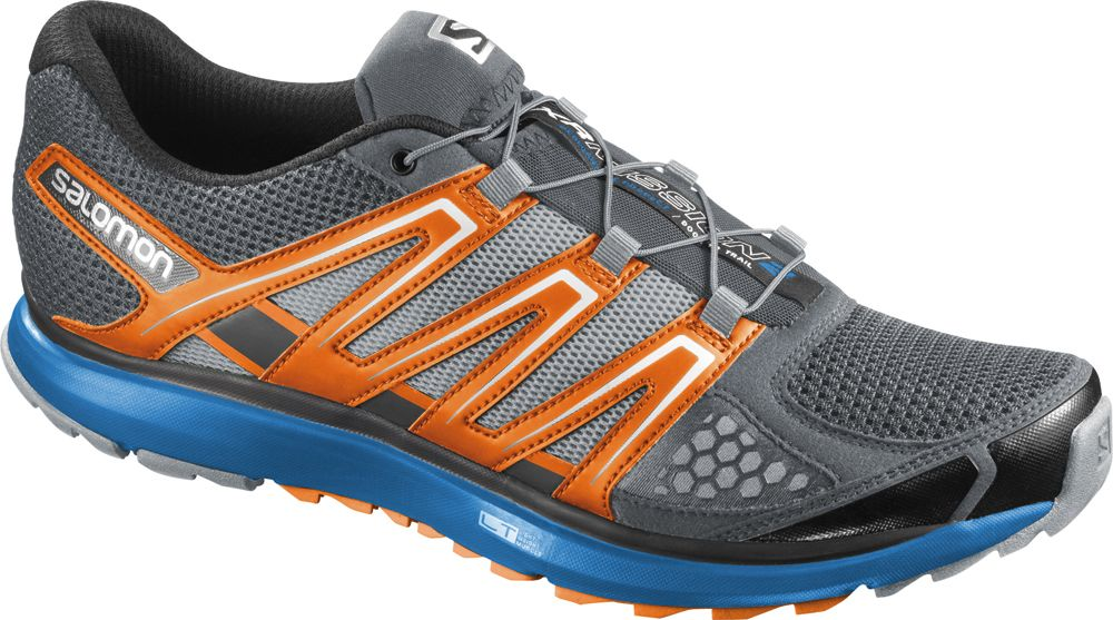 Salomon X Scream In Pearl Grey Union Blue Black Mens Trail Running Shoes Shoes Mens Trail Running Shoes