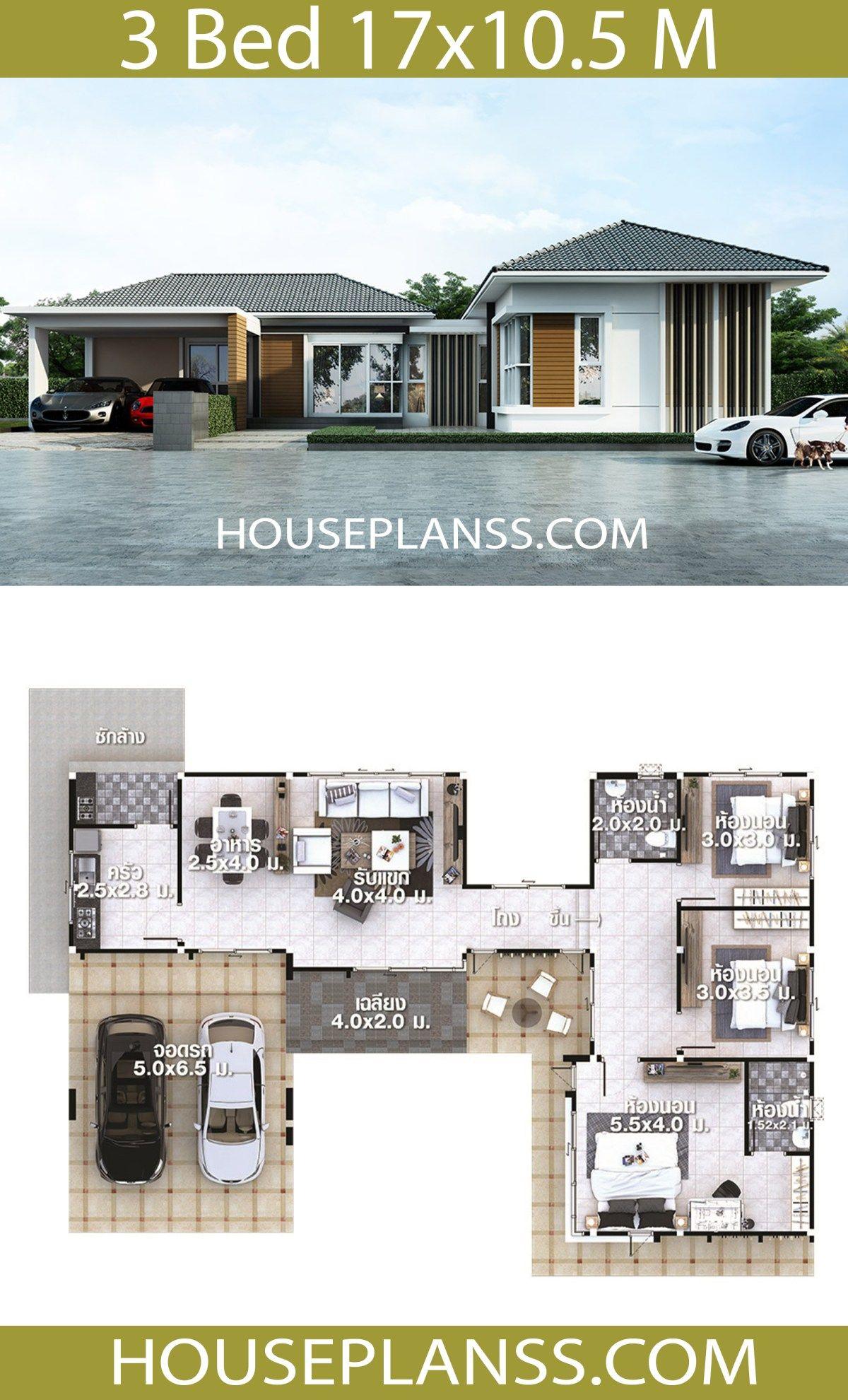 House Plans Idea 17x10 5 With 3 Bedrooms House Plans Sam Beautiful House Plans House Plans My House Plans