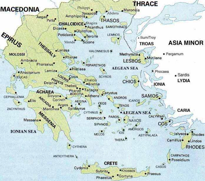 Greek city states Large cities that have their own military