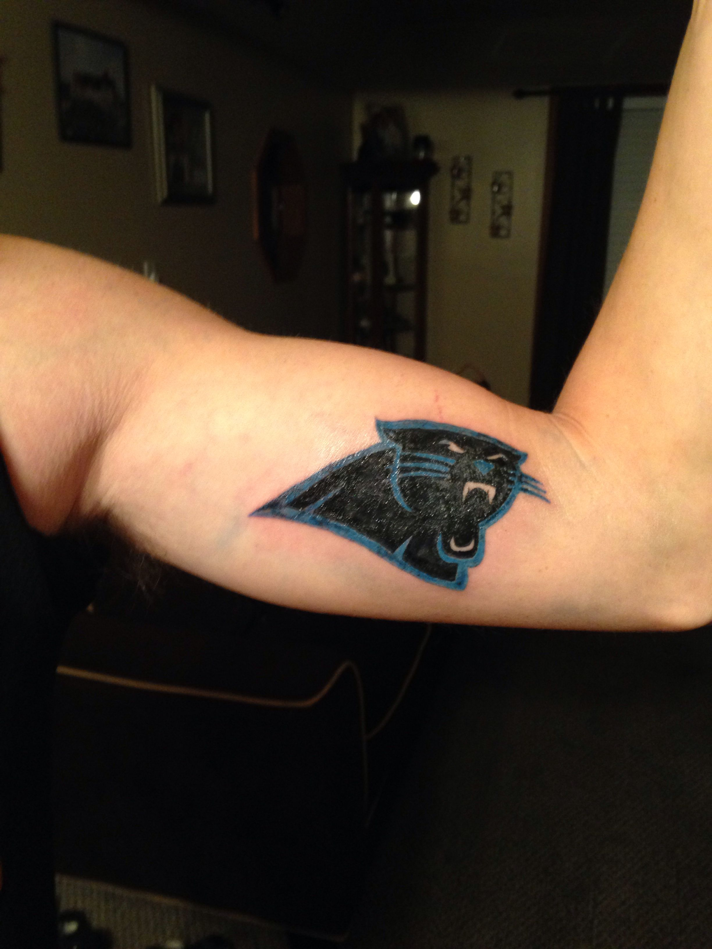 Nfl carolina panthers tattoo tattoos pinterest nfl for Carolina panthers tattoos