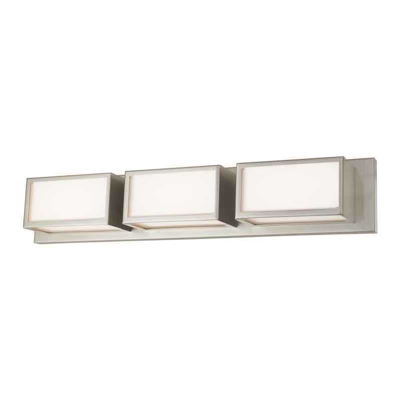Photo of Livex Lighting 10133 Sutter 3 Light 24″ Wide Integrated LED Bathroom Vanity Ligh Brushed Nickel Indoor Lighting Bathroom Fixtures Vanity Light