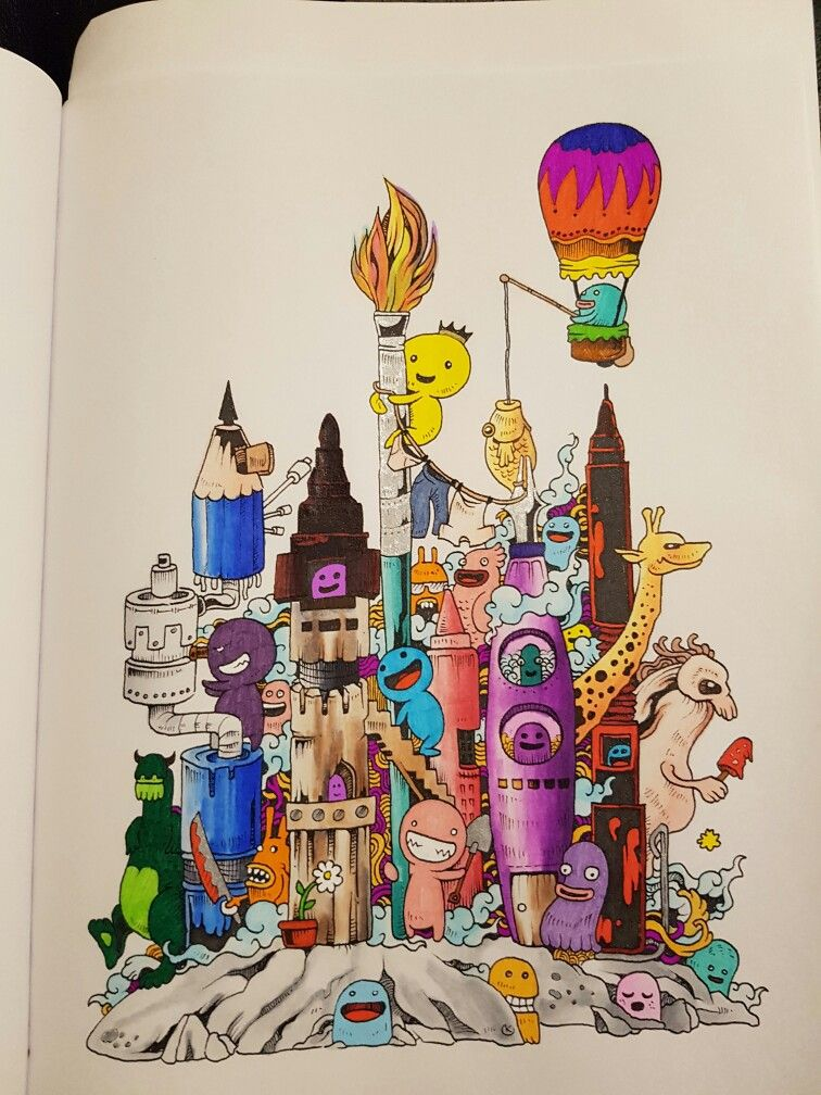 Almost Finished Colouring My First Picture In New Book Invasion Rosanes Love His Work Absolute Favorite Illustrator