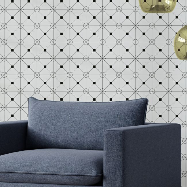 Tempaper Black and White Zodiac Removable Wallpaper | Crate and Barrel