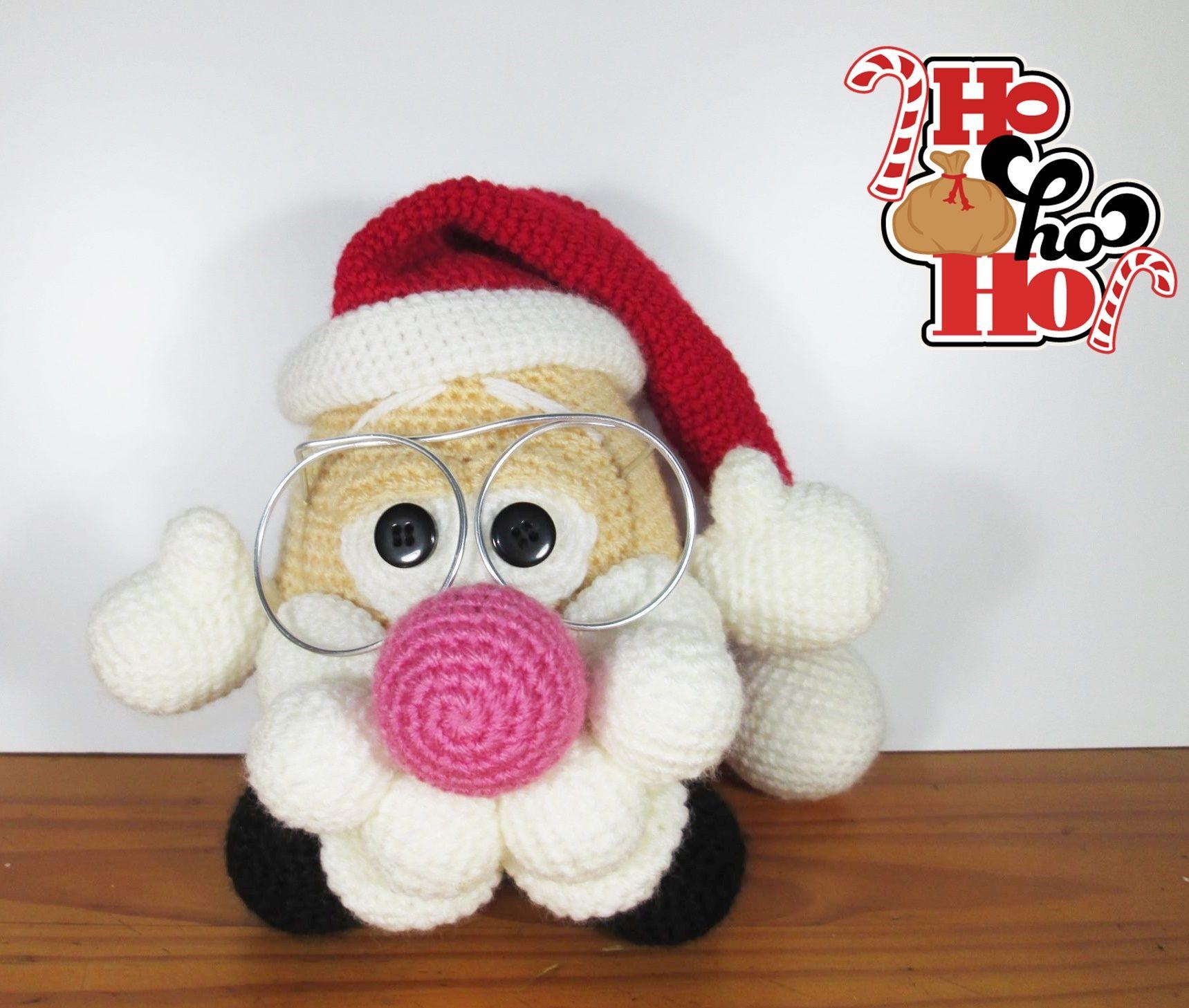 Papá Noel Potato. Patrón gratis: http://www.galamigurumis.com/papa ...