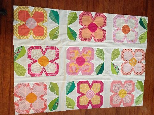 Wip Swedish Blooms Quilt Flower Quilts Quilts Flower Quilt