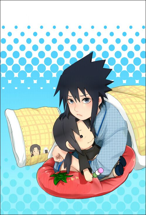 Little sasuke and his itachi plushi #sasuke