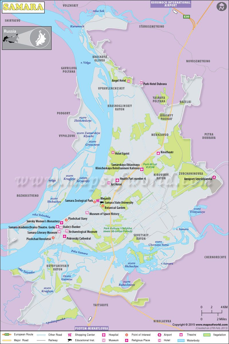 Samara Map Russia in 2019 Pinterest