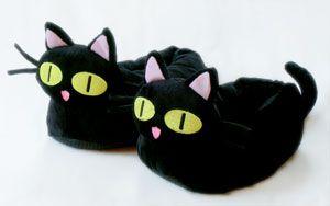 Kuroneko Cat Slippers   Cat slippers