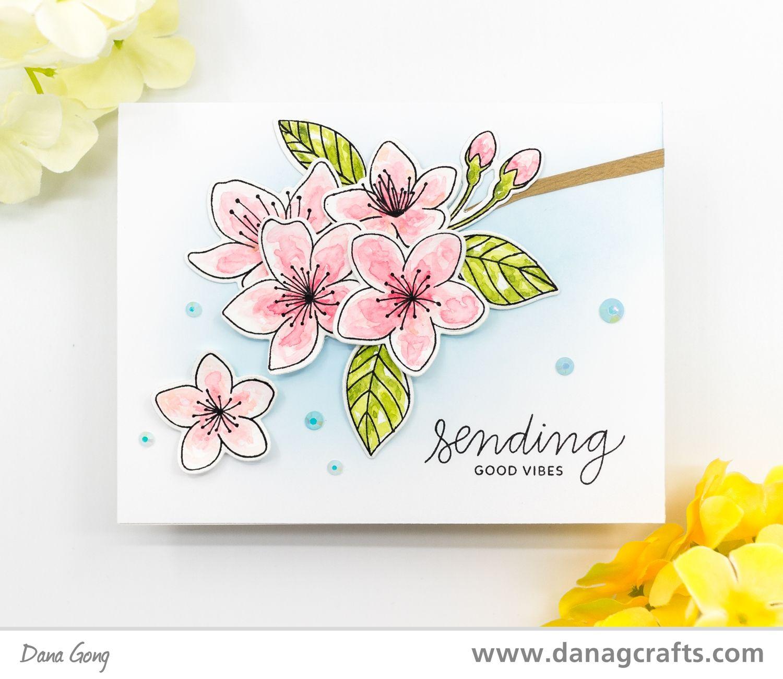Sympathy Flowers Cherry Bloom Metal Cutting Dies Rubber Stamp Scrapbooking Craft