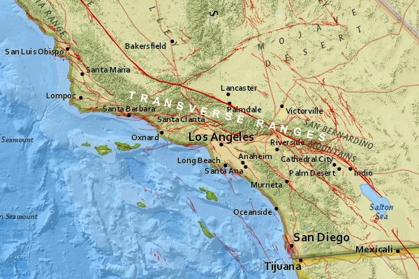 California Fault Lines Map Near Los Angeles Google Search California Los Angeles Earthquake