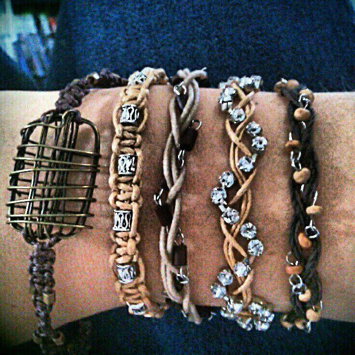 homemade bracelets :) by KnottyByChoice