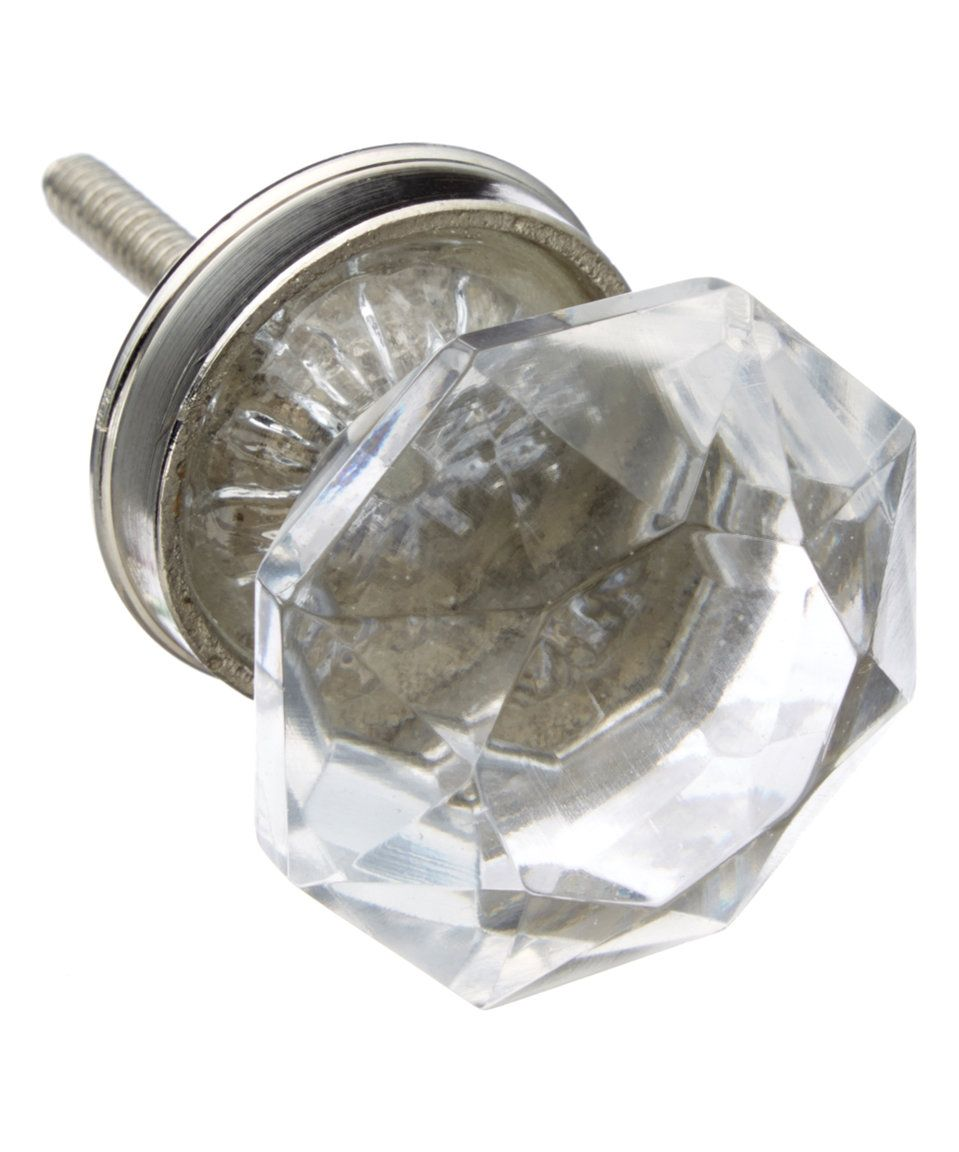 Love this Clear Glass Knob - Set of Four by Shabby Restore on #zulily! #zulilyfinds