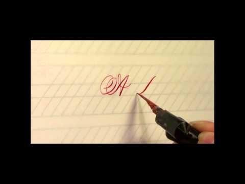 Copperplate Advanced Capitals Workshop with Kerr Pelto - A Sneak Peek - YouTube