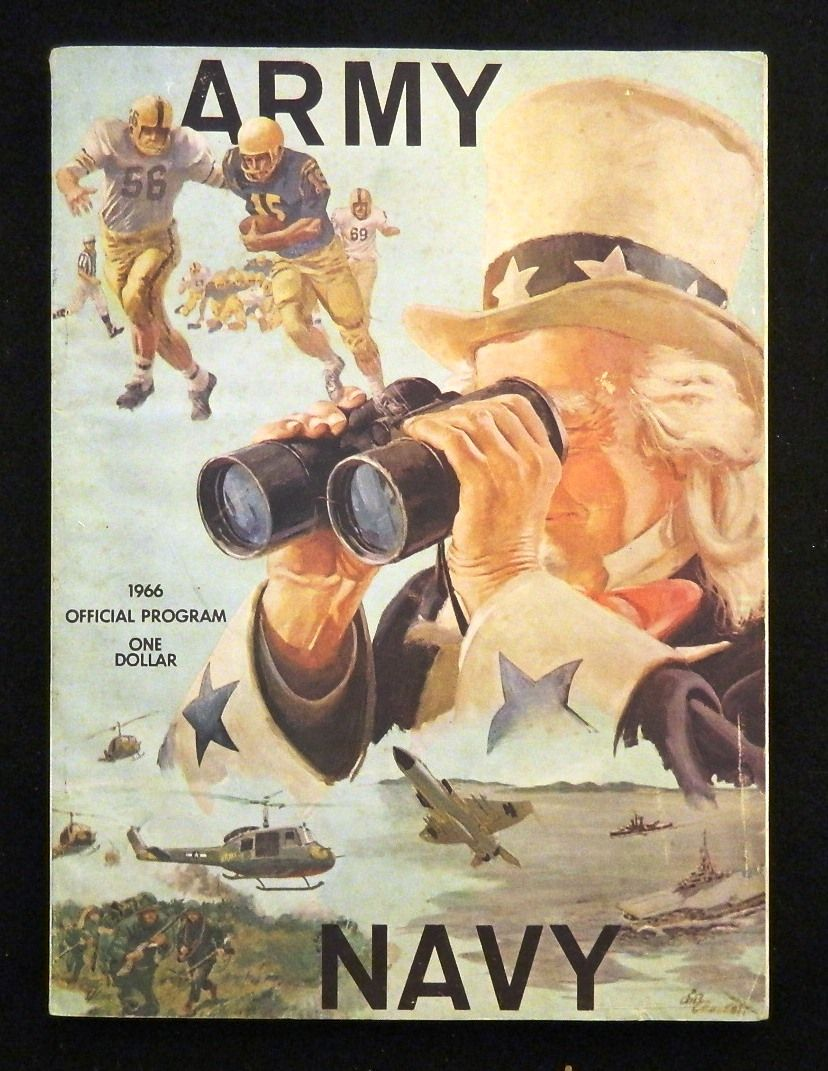 Army navy game 1966 official football program navy