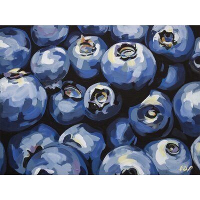 GreenBox Art Fun home decor for the kitchen by Emily Drummond featuring blueberries. Size: 10