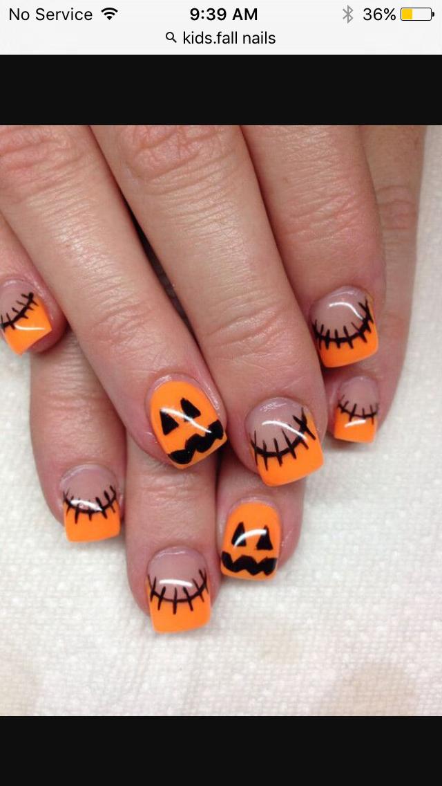 Halloween nail design | All Nail Info! | Pinterest | Halloween nail ...