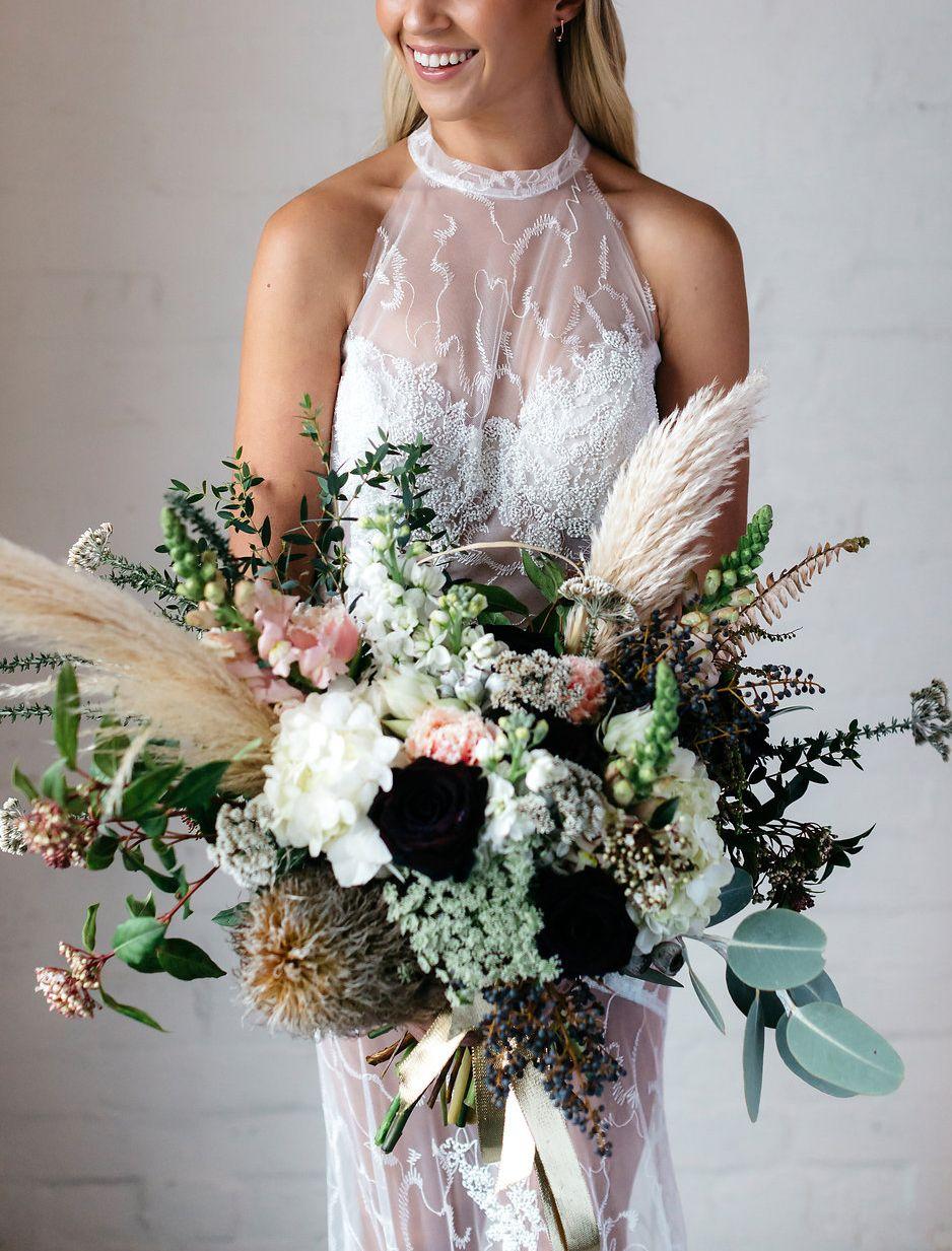 37++ Pampas grass wedding bouquet ideas