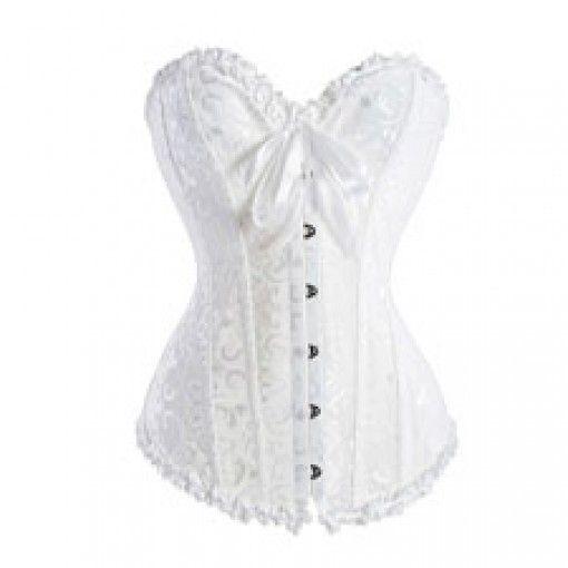 White Lingerie Burlesque Corset