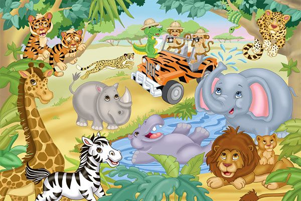 Pin By Gowri Maharajan On Mix J Animal Mural Murals Your Way Safari Mural