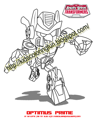 When Rovio Is On The Edge And Ready To Fall The Rovio Team Making A New Scene And That Is Angry Transformers Coloring Pages Lego Coloring Pages Transformers