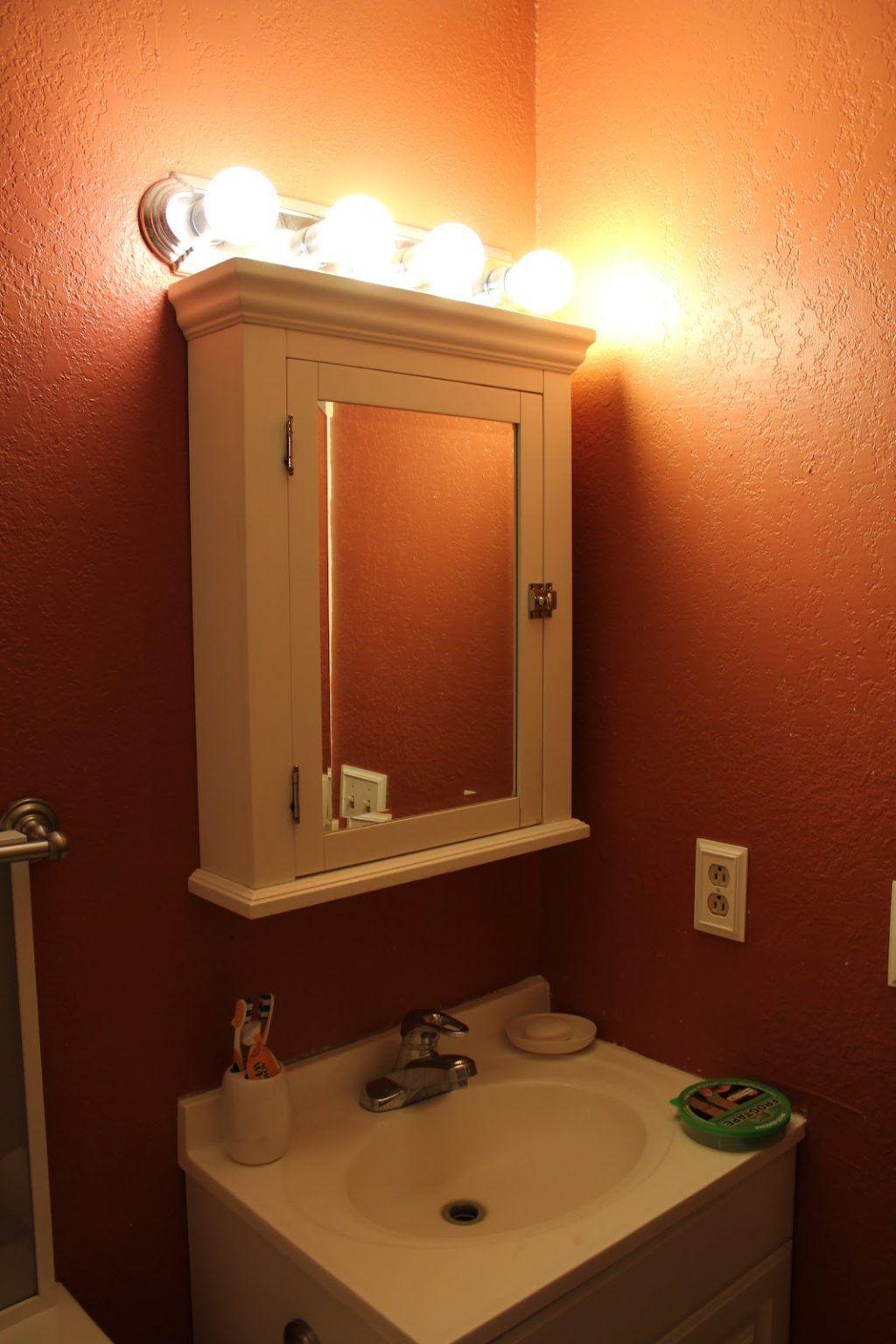Medicine Cabinet Over Surface Mount ...   Bathroom light ...