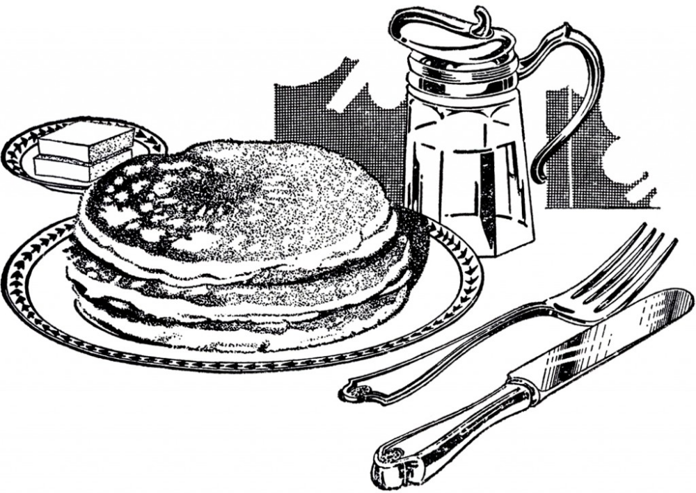 Vintage Pancake Breakfast Image The Graphics Fairy Breakfast Pancakes Breakfast Clipart Graphics Fairy