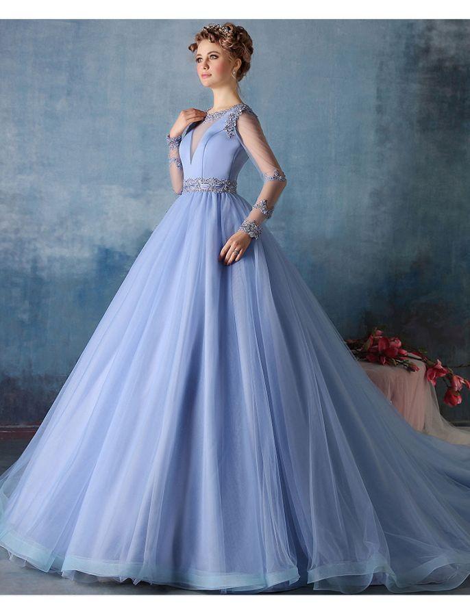 Vintage Style Prom Dresses Blue