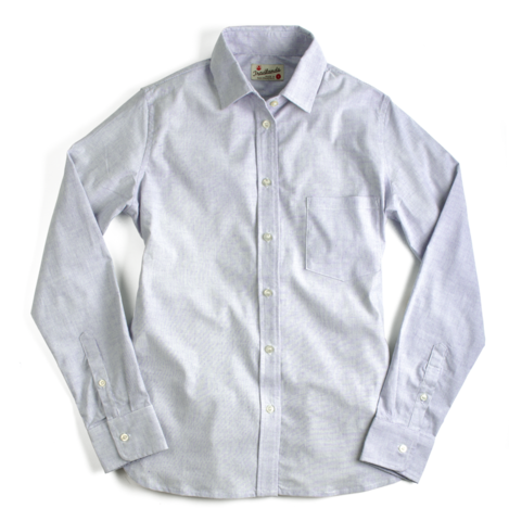 Jones St. Blue | Button-down Shirt for Women | $127.00 | Fine blue and white stripe Gently tailored and relaxed fit No pleats for easy ironing Double stitched pearlized buttons 97% cotton with 3% spandex Blended fabric adds a little stretch Single needle stitching Interior French seam Gusset reinforces stitching at hip Designed and sewn in San Francisco Available in sizes xs - xl