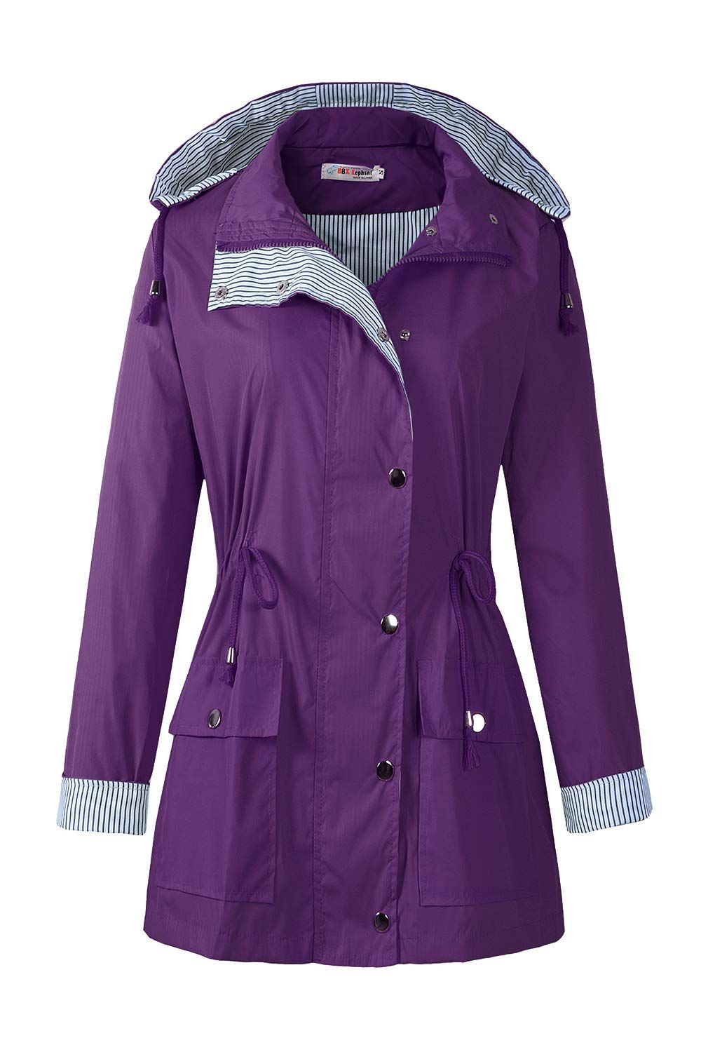 7c26b0e39 BBX Lephsnt Womens Waterproof Jacket Hooded Lightweigth Raincoat Active  Outdoor Trench Coat >>> Learn more by visiting the image link.