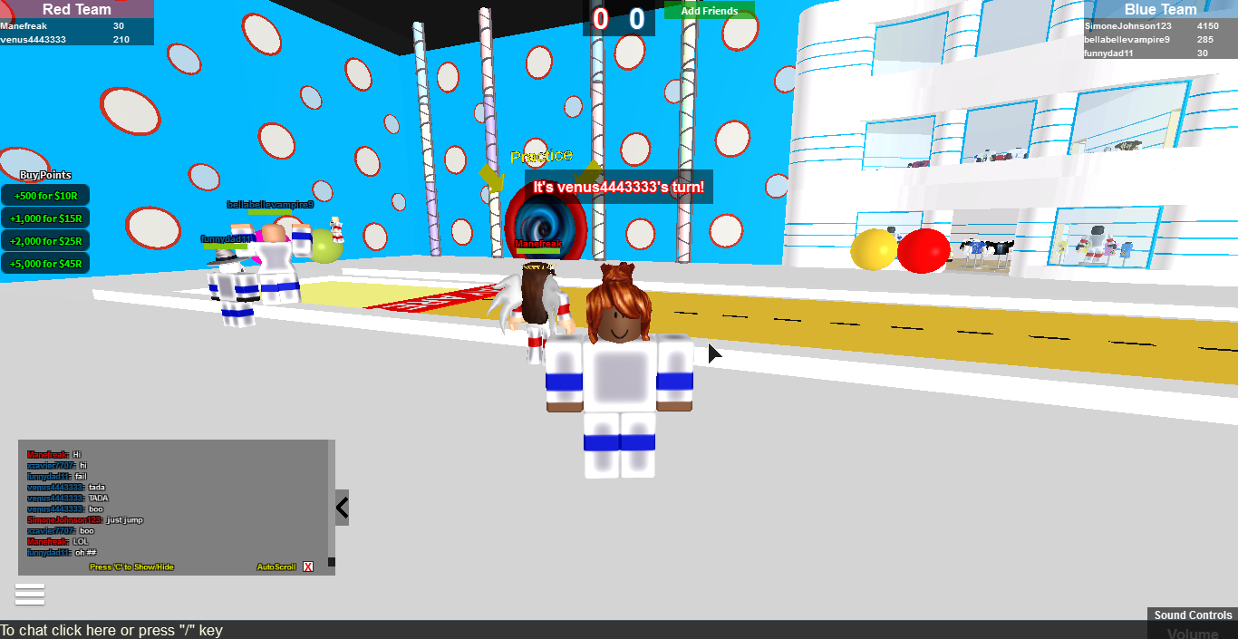 Hole in the wall (on roblox!) friend me!!!!!!!!!!!!! My name