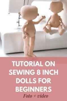 8 inch doll pattern ,Doll body PDF, rag doll patterns, Soft Doll Pattern,halloween Doll Pattern . Tutorial sewing dolls for beginners